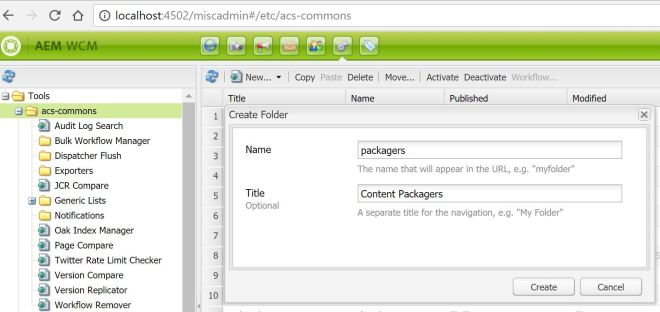 create-acs-common-packagers-folder