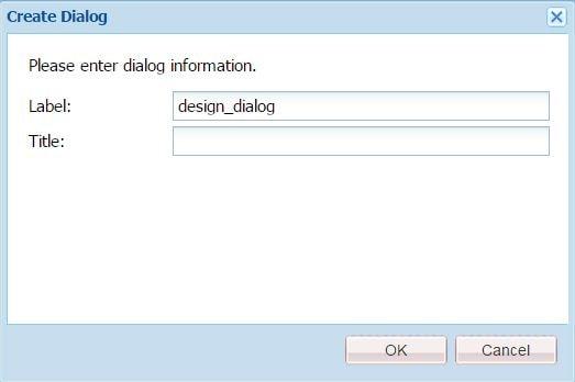 design dialog label