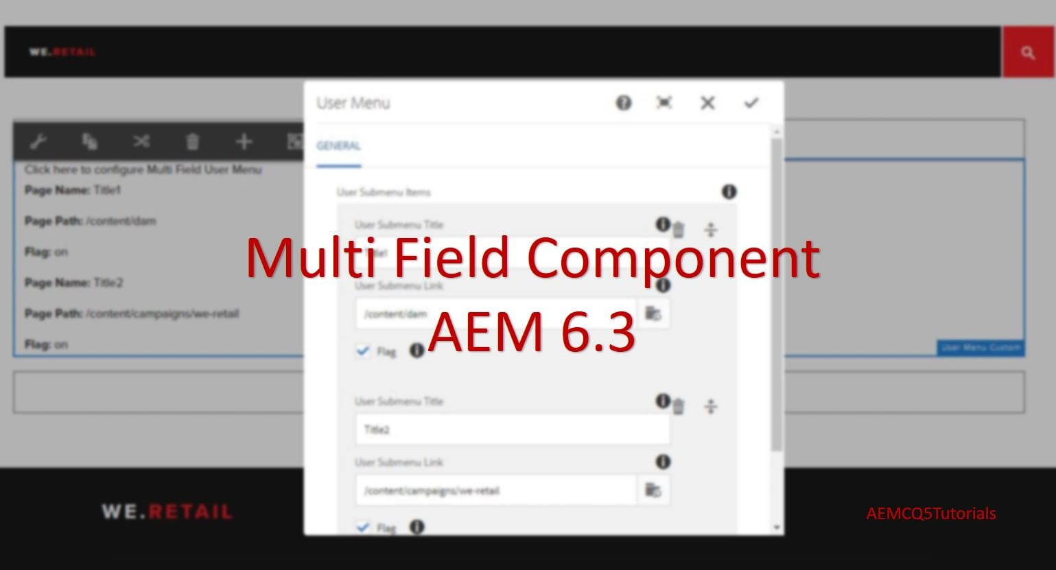 Create TouchUI Multifield Component using HTL | AEM CQ5