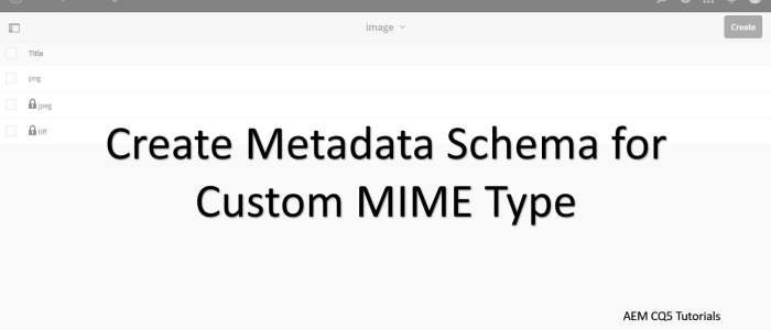 metadata schema form for custom mime types