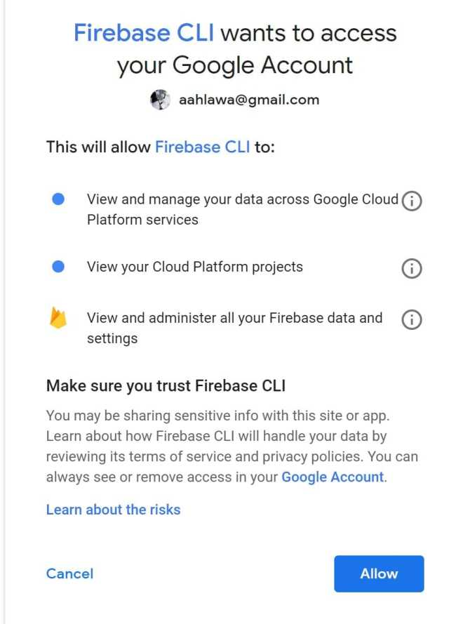allow-firebase-gmail