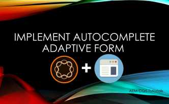 autocomplete adaptive form