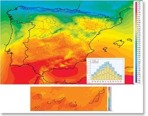 Atlas de radiación solar en España
