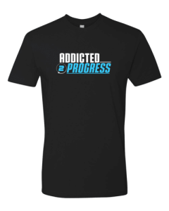 Addicted 2 Progress T Shirt Black