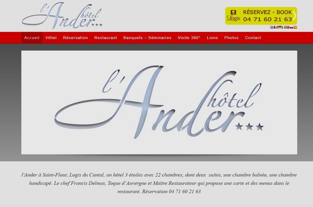 Site internet Hôtel Aurillac Saint-Flour Cantal