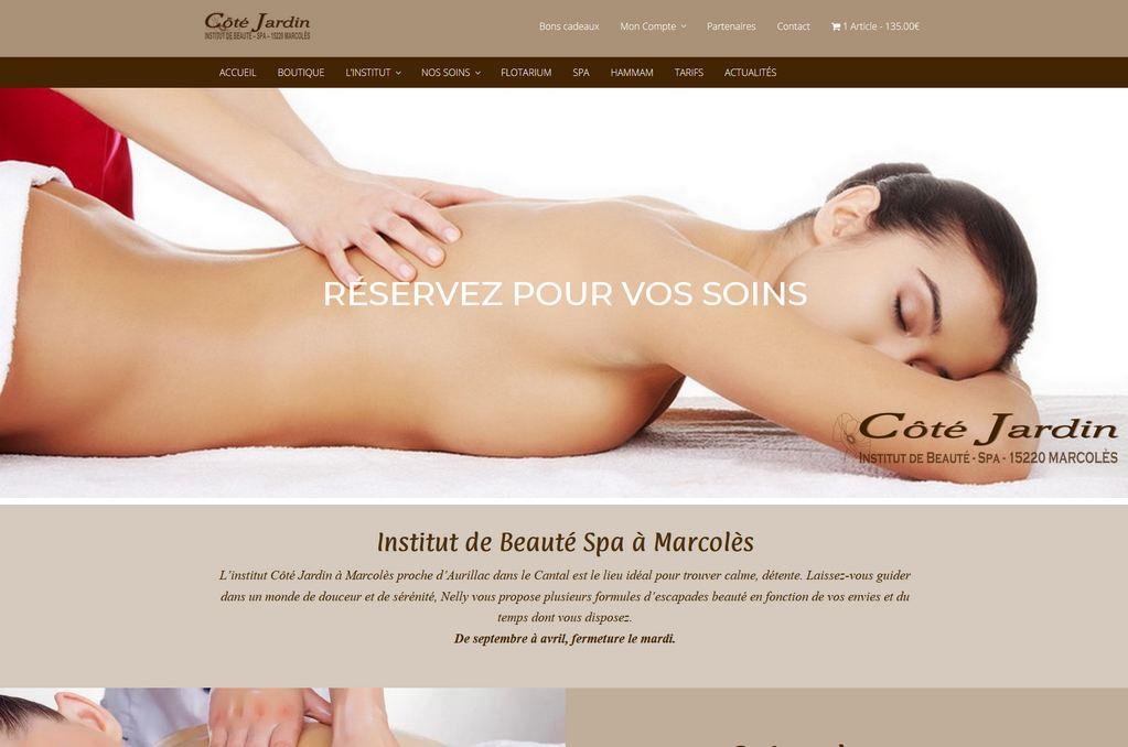 Site Internet Institut de beauté Maurs