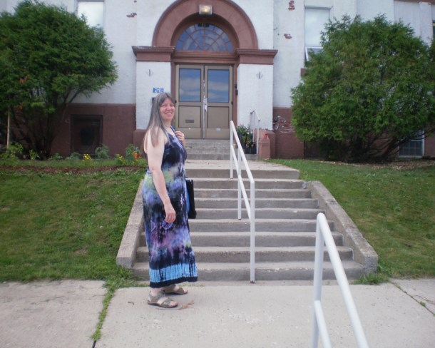 Cathi at the Community Centre