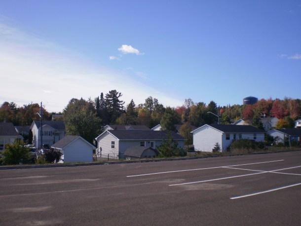 Autmn leaves behind the Church Parking lot.