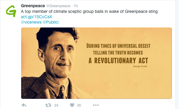 George Orwell -Telling the Truth when Deceit is the Norm.