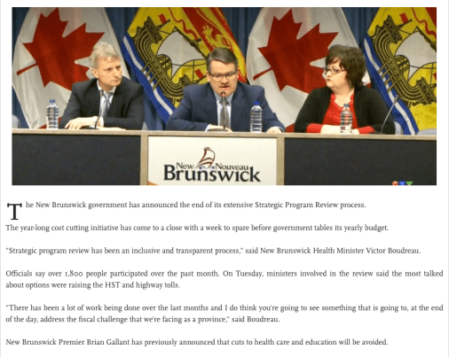 New Brunswick 'Strategies'.