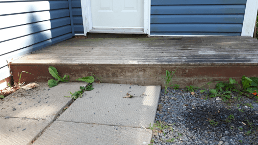 Not Level porch/deck