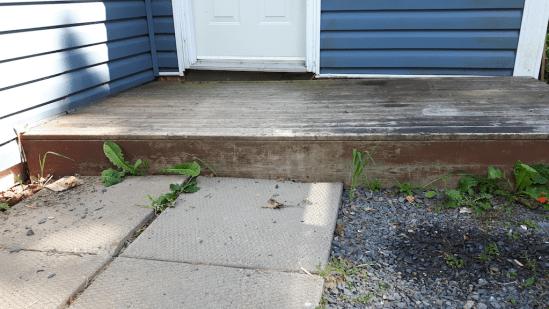 Not Level porch/deck