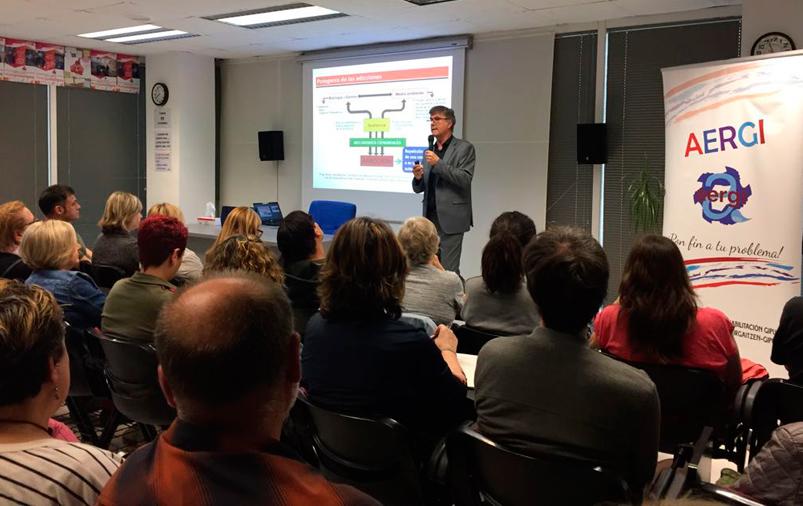 Gurutz Linazasoro habla de 'cerebro y adicción' en Aergi