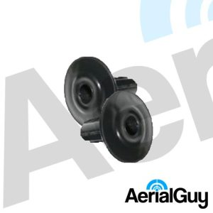 AerialGuy - Black RG6 Coaxial Satellite Cable Wall Bushing Grommets