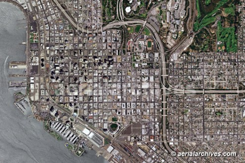Aerial Photo Maps of the City and County of San Diego  CA aerialarchives com aerial photo map of San Diego AHLV2087