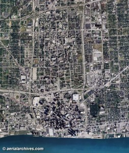 Aerial and Satellite Maps of Michigan aerialarchives com Detroit  Michigan  aerial map  AHLV3054