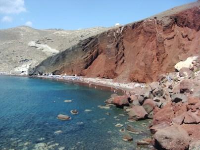 Red Sand Beach in Santorini