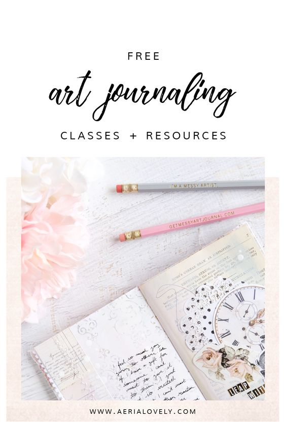 free art journaling classes + resources