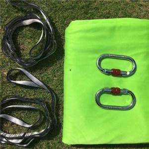 lime green Aerial silk hammock