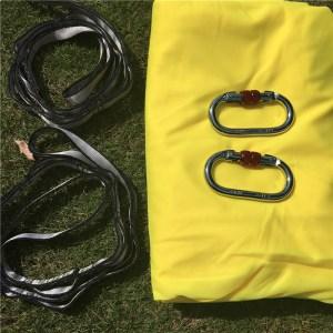 yellow Aerial silk hammock