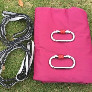 Red Aerial silk hammock