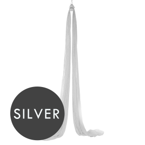 silver aerial silks