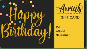 Birthday Gift Voucher For Sale