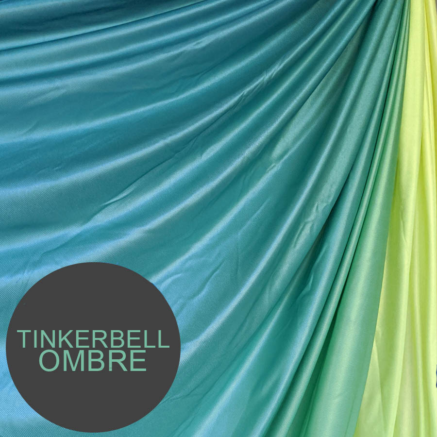 GREEN YELLOW OMBRE AERIAL YOGA HAMMOCK