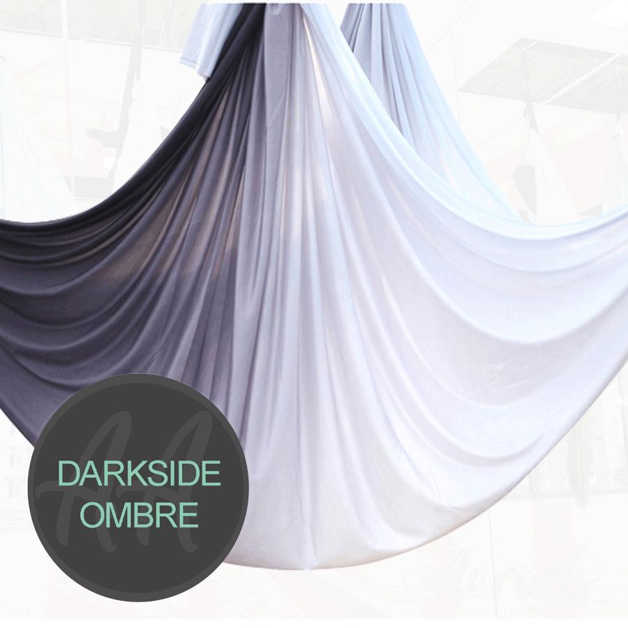 DARKSIDE BLACK WHITE Ombre aerial yoga hammocks for sale