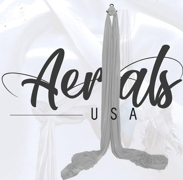 silver aerial silks set for sale