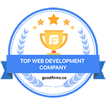 Goodfirms.co blue award badge for top website development companies aero business solutions abs bangalore india 150X150
