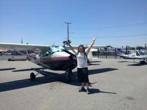 first solo, flight training, krhv