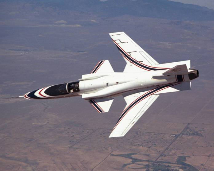 X-29_in_Banked_Flight