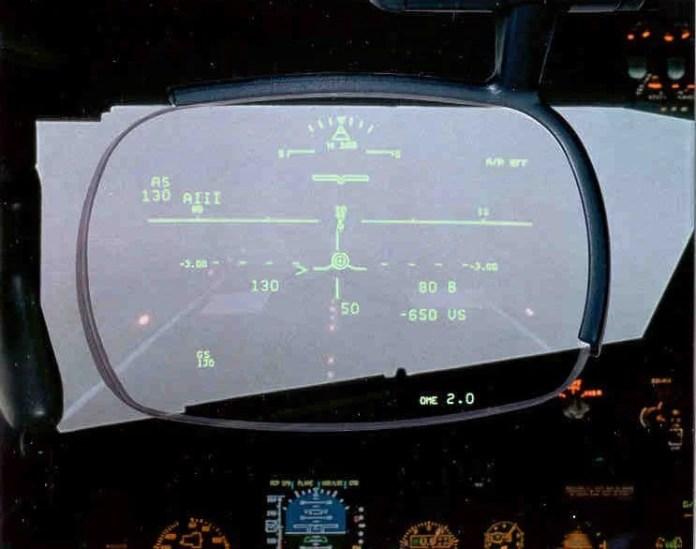 Situação de pouso CAT 3A vista de dentro do cockpit.