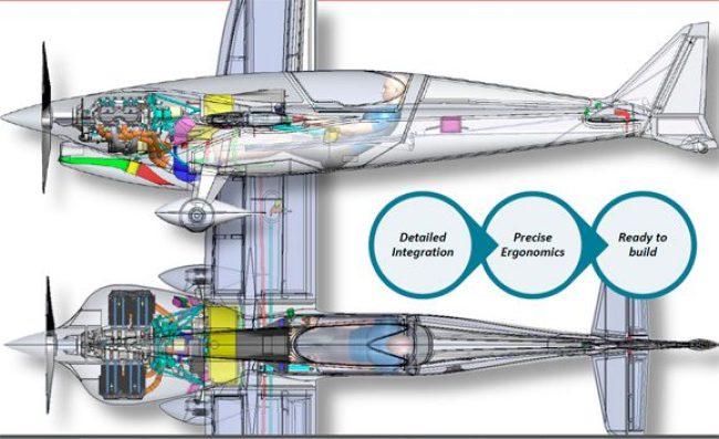 Aeronave foi projetada com ajuda do software Solidworks, bastante utilizado para isso.