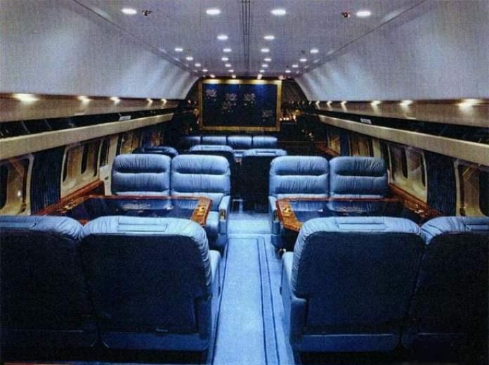Interior da versão executiva.