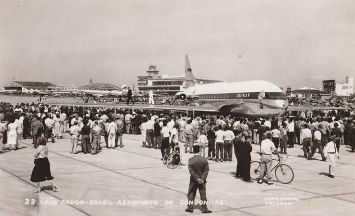 Aeroporto de Congonhas no início da era do jato. Foto - Infraero/Dilvulgação