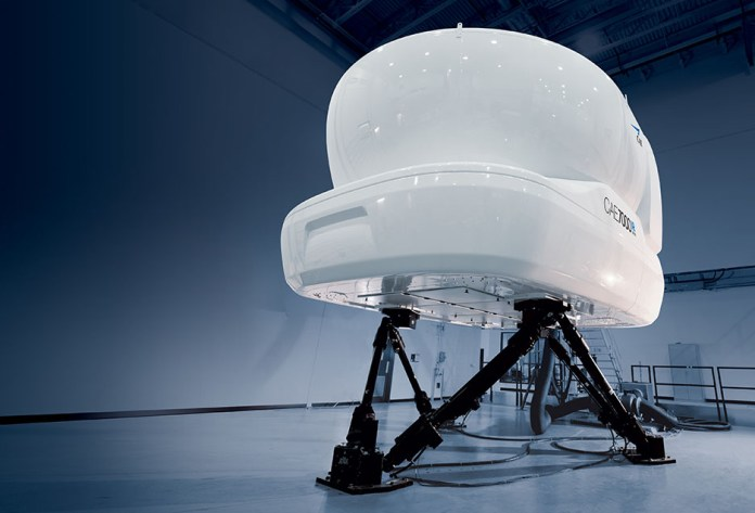 Simulador de voo CAE 7000XR.