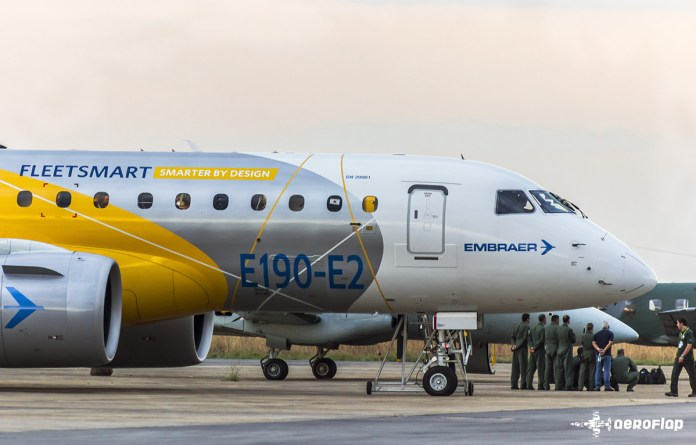 E-Jet E2, a nova aposta da Embraer para o segmento de 70-130 assentos.