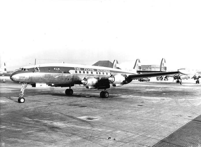 O clássico Lockheed Constellation também já operou a rota da KLM para o Brasil