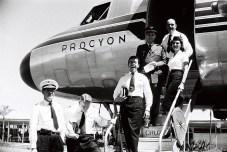 Tripulação da Cruzeiro do Sul em 1958. Foto - Arquivo Público do DF/Reprodução
