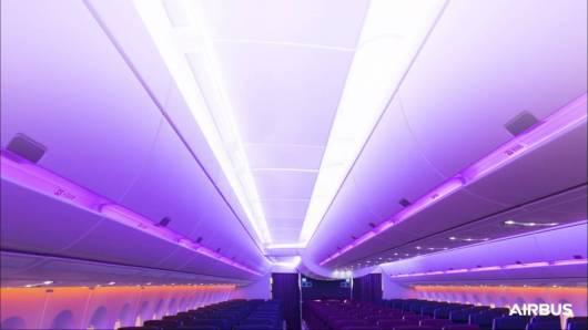 A35-1000 Airbus Qatar lights