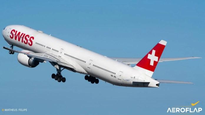 Swiss Boeing 777 Suiça