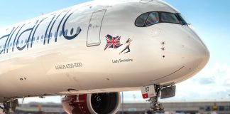 Airbus A350 Virgin Atlantic Dia da Mulher