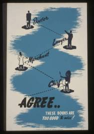 Vintage Library Posters from the New Deal Era