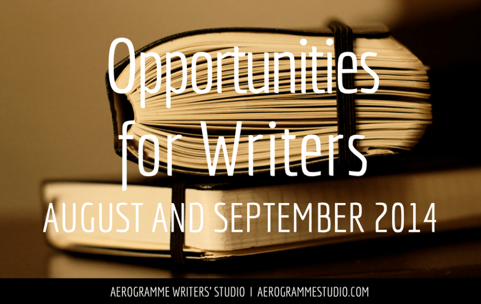 Opportunities for Writers August and September 2014