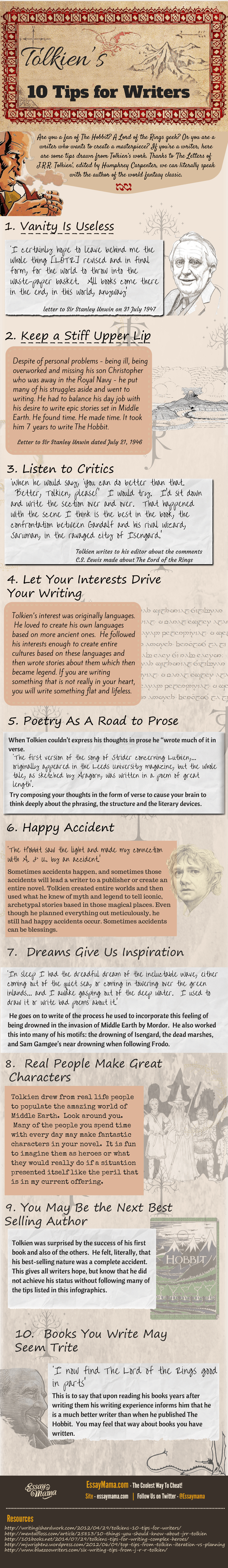 J.R.R. Tolkien's 10 Tips for Writers
