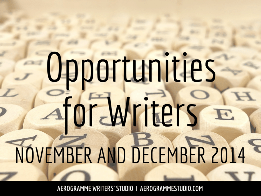 Opportunities for Writers November and December 2014