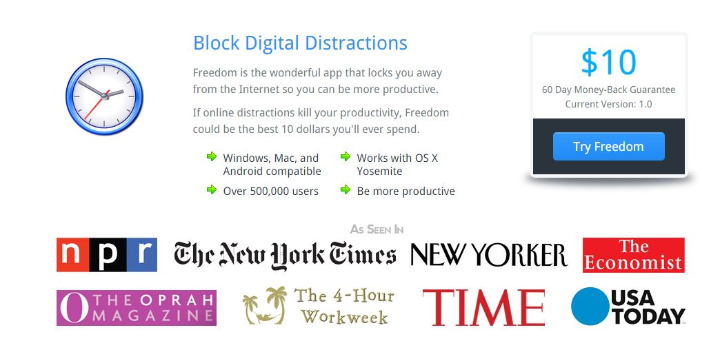 Christmas Gifts for Writers - Freedom Digital Distraction Blocker