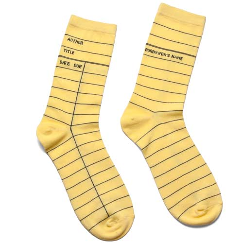 Christmas Gifts for Writers - Library Card Socks